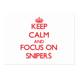Keep Calm and focus on Snipers Business Card Template