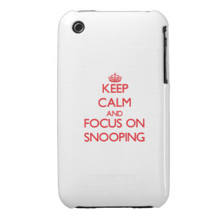 Keep Calm and focus on Snooping iPhone 3 Case-Mate Cases