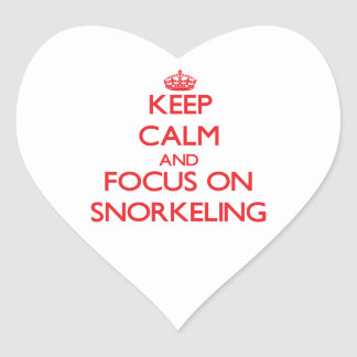 Keep Calm and focus on Snorkeling Stickers