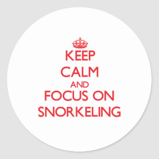 Keep Calm and focus on Snorkeling Sticker