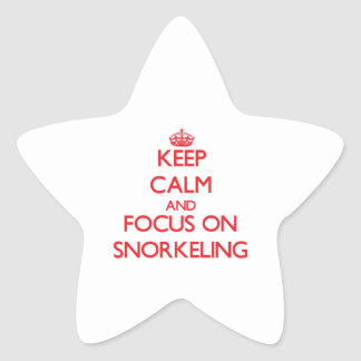 Keep Calm and focus on Snorkeling Star Stickers