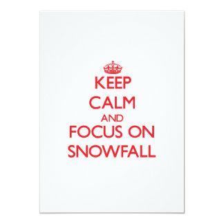 Keep Calm and focus on Snowfall Announcement