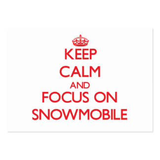 Keep Calm and focus on Snowmobile Large Business Cards (Pack Of 100)