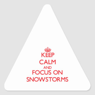 Keep Calm and focus on Snowstorms Sticker