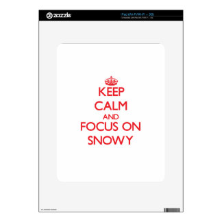 Keep Calm and focus on Snowy Decal For iPad