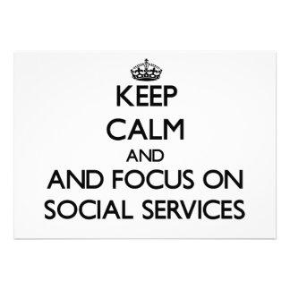 Keep calm and focus on Social Services Custom Invitations