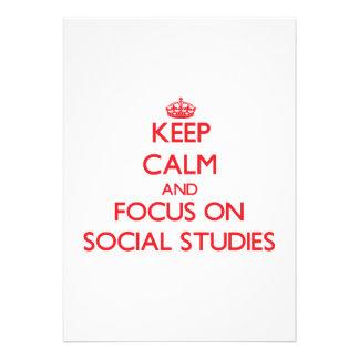 Keep Calm and focus on Social Studies Invitation