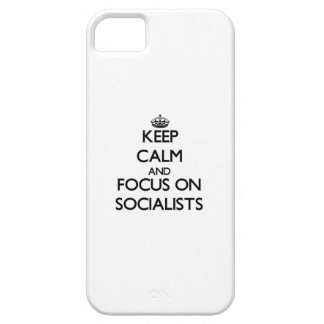 Keep Calm and focus on Socialists iPhone 5 Covers