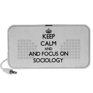 Keep calm and focus on Sociology Notebook Speaker