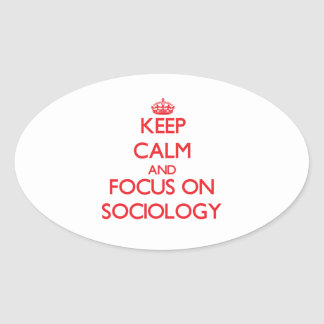 Keep Calm and focus on Sociology Stickers
