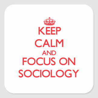 Keep Calm and focus on Sociology Square Sticker