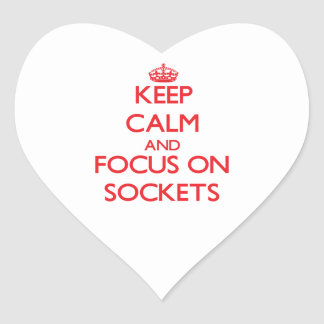 Keep Calm and focus on Sockets Stickers