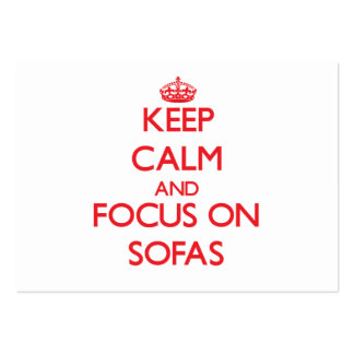 Keep Calm and focus on Sofas Large Business Cards (Pack Of 100)