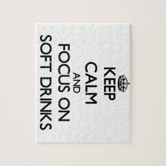 Keep Calm and focus on Soft Drinks Puzzle