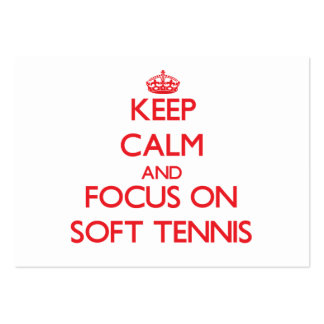 Keep calm and focus on Soft Tennis Large Business Cards (Pack Of 100)