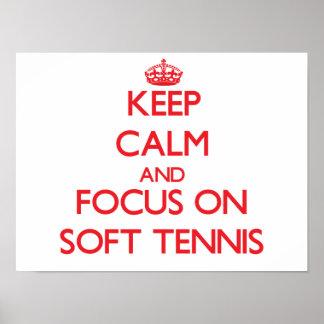 Keep calm and focus on Soft Tennis Print