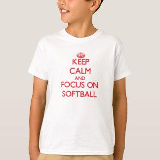Keep Calm and focus on Softball T-Shirt