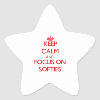 Keep Calm and focus on Softies Star Sticker