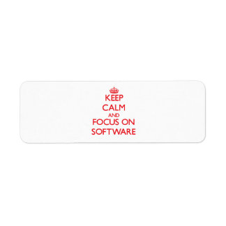 Keep Calm and focus on Software Custom Return Address Labels