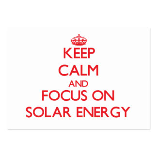 Keep Calm and focus on Solar Energy Large Business Cards (Pack Of 100)