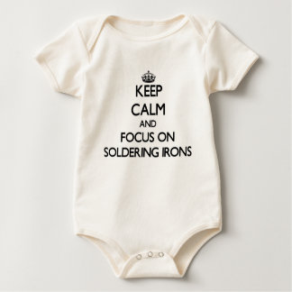 Keep Calm and focus on Soldering Irons Baby Bodysuit