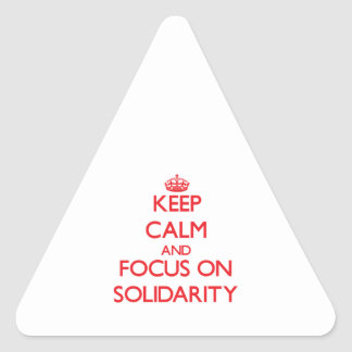 Keep Calm and focus on Solidarity Triangle Sticker