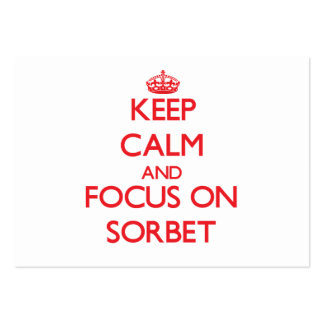 Keep Calm and focus on Sorbet Large Business Cards (Pack Of 100)