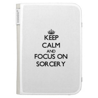 Keep Calm and focus on Sorcery Kindle Keyboard Case