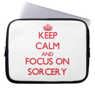 Keep Calm and focus on Sorcery Computer Sleeve