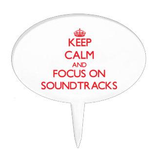 Keep Calm and focus on Soundtracks Cake Pick