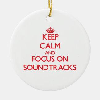 Keep Calm and focus on Soundtracks Christmas Ornaments