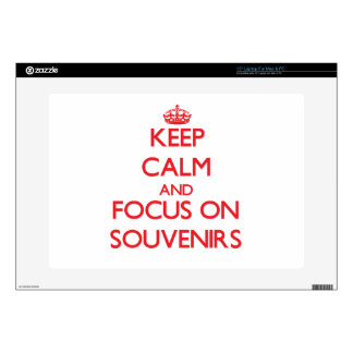 """Keep Calm and focus on Souvenirs 15"""" Laptop Skin"""
