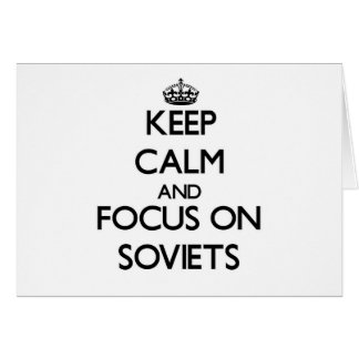Keep Calm and focus on Soviets Stationery Note Card
