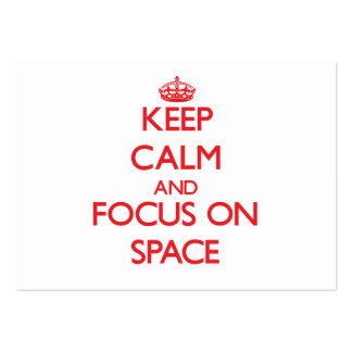 Keep Calm and focus on Space Business Card Template