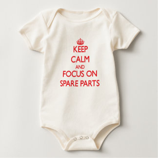 Keep Calm and focus on Spare Parts Baby Bodysuit