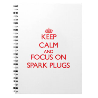 Keep Calm and focus on Spark Plugs Notebooks