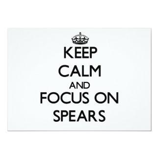 "Keep Calm and focus on Spears 5"" X 7"" Invitation Card"