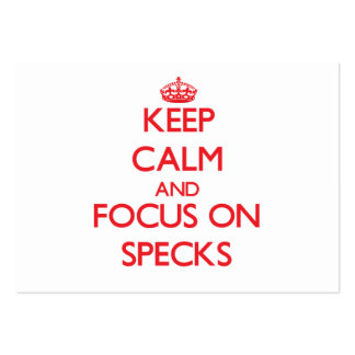 Keep Calm and focus on Specks Business Card Template