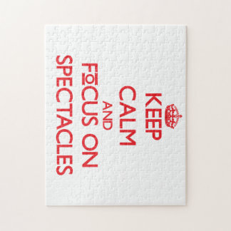 Keep Calm and focus on Spectacles Puzzles