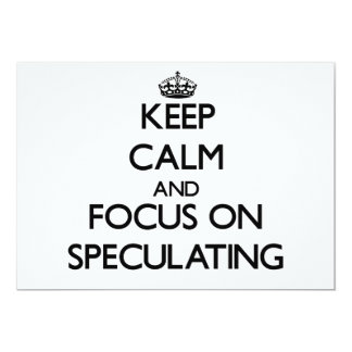 Keep Calm and focus on Speculating Custom Announcements