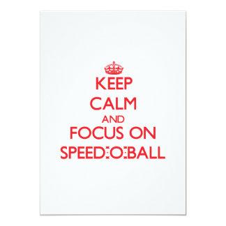 Keep calm and focus on Speed-O-Ball Custom Invitations
