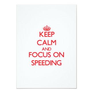 Keep Calm and focus on Speeding Invites