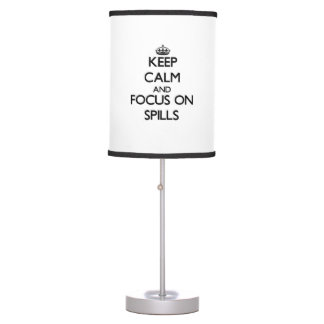 Keep Calm and focus on Spills Lamp