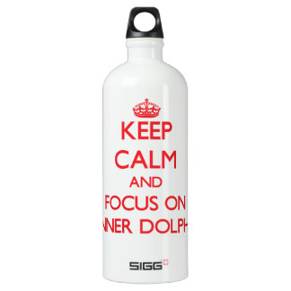 Keep calm and focus on Spinner Dolphins SIGG Traveler 1.0L Water Bottle