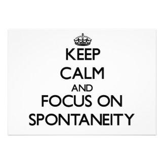 Keep Calm and focus on Spontaneity Custom Invite