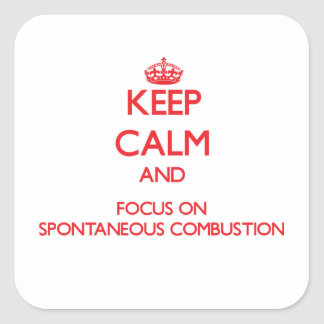 Keep Calm and focus on Spontaneous Combustion Stickers