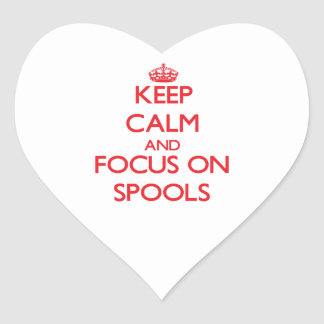 Keep Calm and focus on Spools Sticker