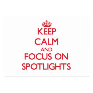 Keep Calm and focus on Spotlights Business Card Templates