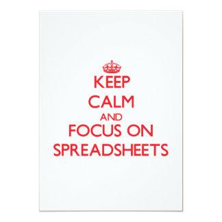 Keep Calm and focus on Spreadsheets Custom Invite