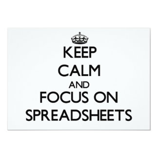 Keep Calm and focus on Spreadsheets Personalized Invites